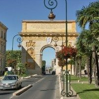 Triumpfbogen und Château d'Eau Montpellier