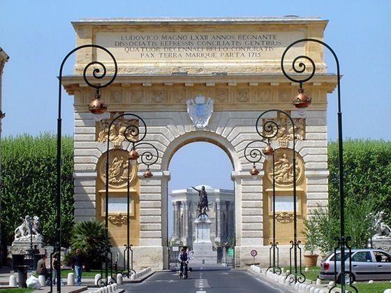 Galer a de fotos de montpellier aprender franc s en francia ila - Arc de triomphe montpellier ...