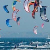 Kitesurfen auf dem Mittelmeer