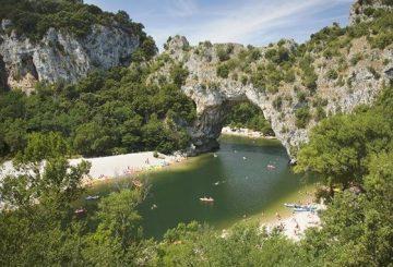Caoné sur l'Ardèche
