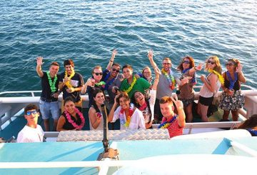 Catamaran cruise party