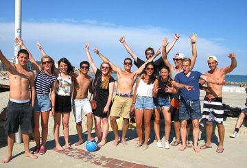 Happy ILA's students at the sea
