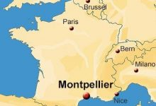 Montpellier Map Of France.School Location Map Ila French Language School