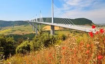 Excursion to Larzac Region: Viaduc de Millau and village of Roquefort cheese